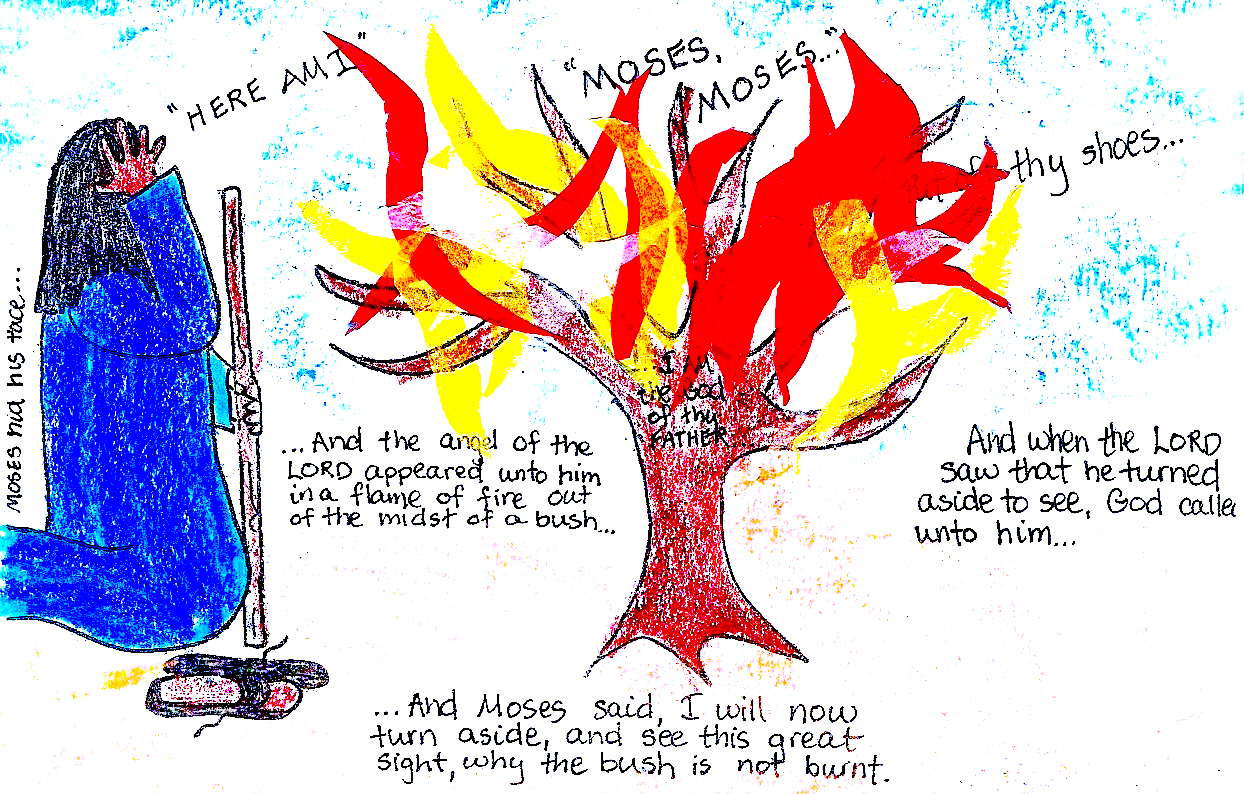 the burning bush aunties bible lessons