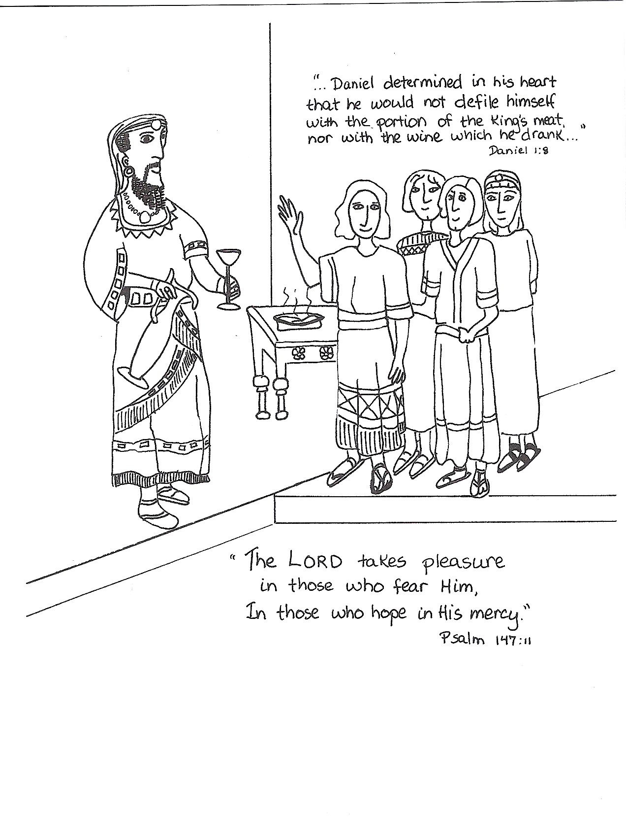 Daniel and Nebuchadnezzar Coloring Pages
