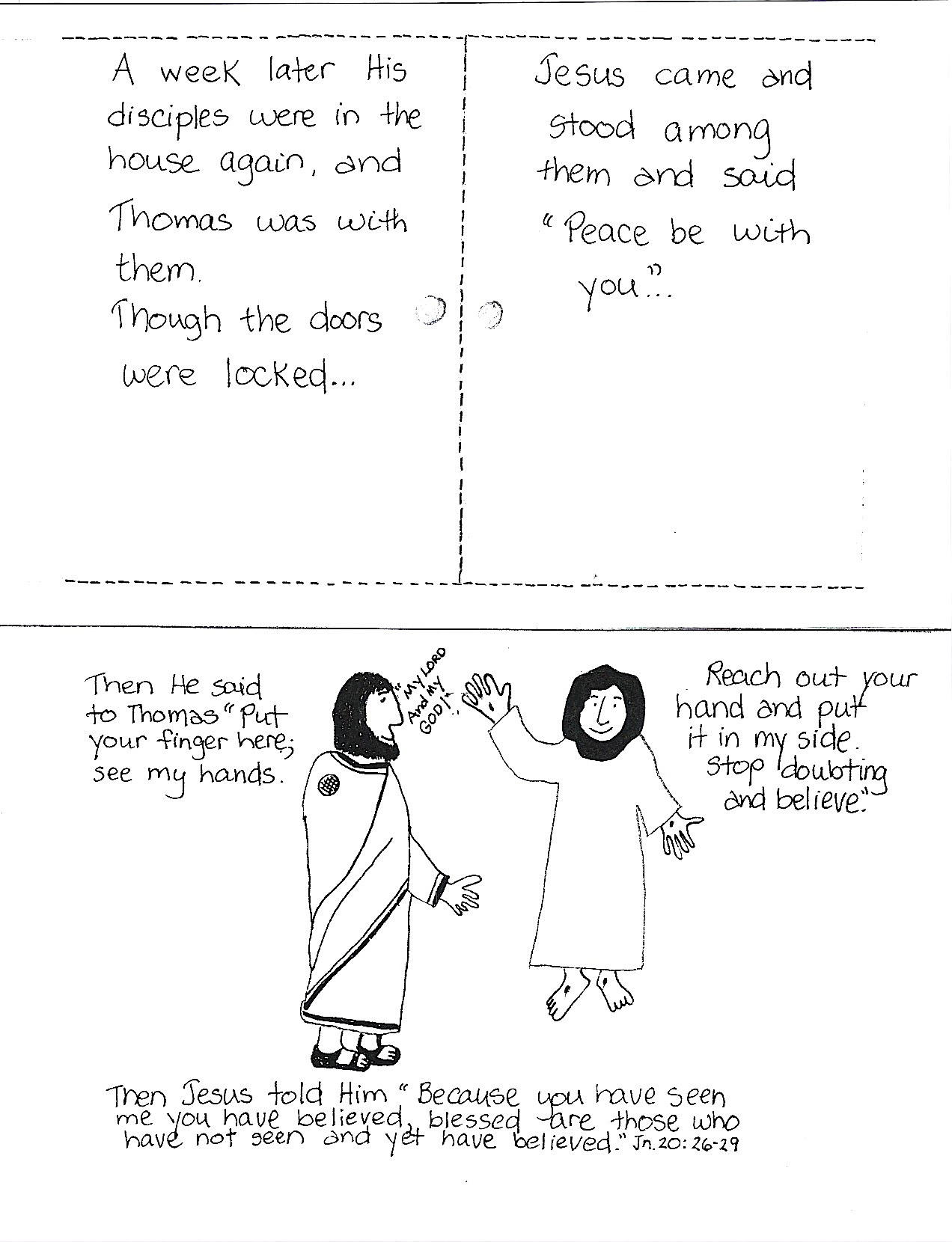 Christian coloring pages doubting thomas
