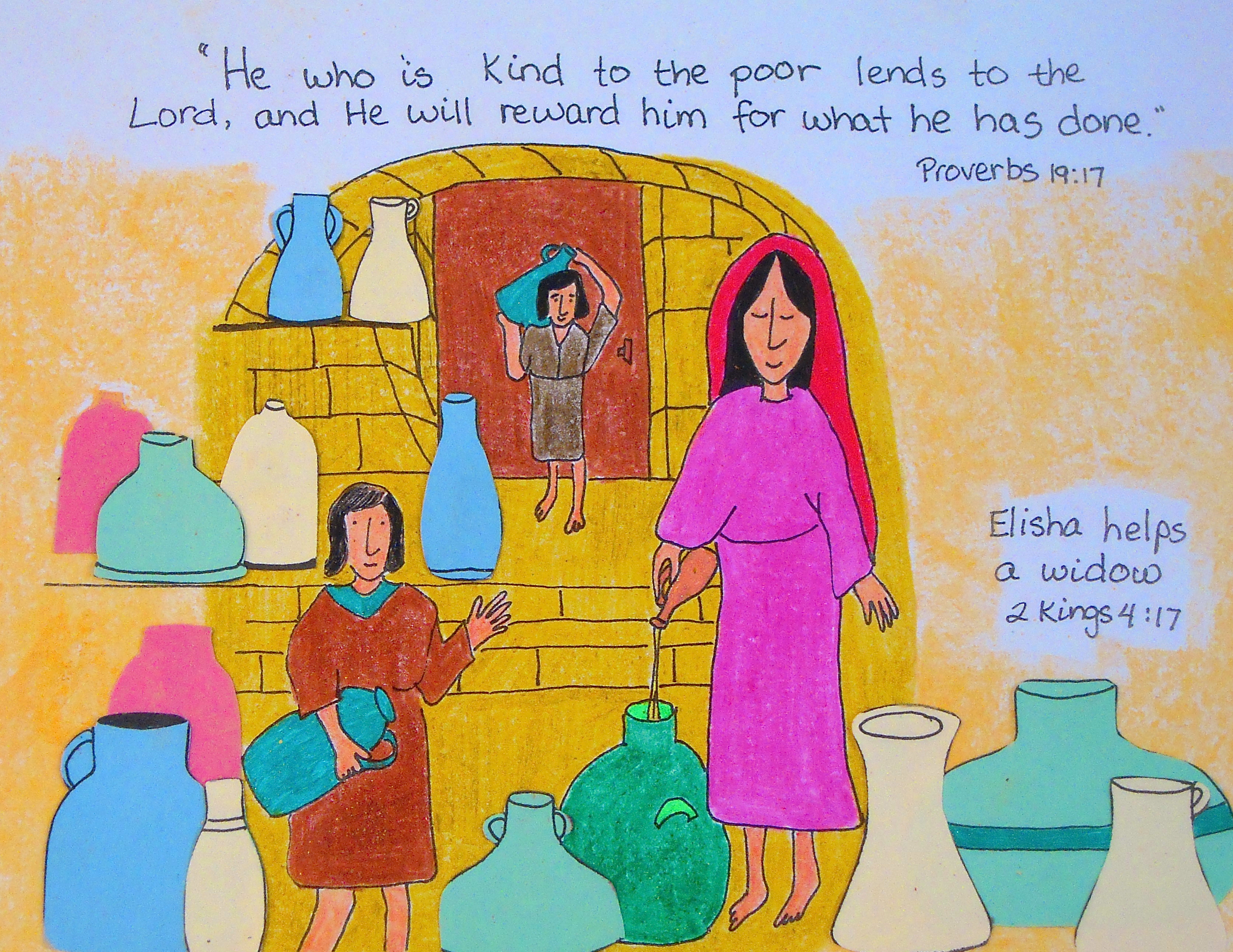 elisha helps a widow aunties bible lessons