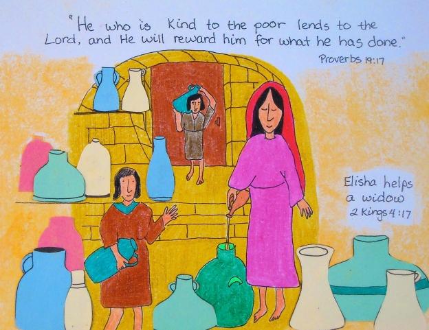 Elisha helps a widow