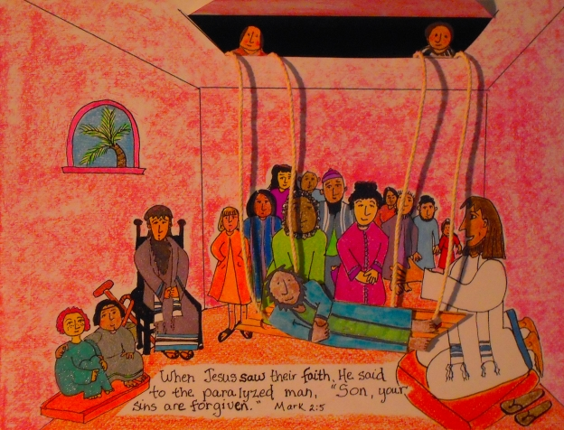 Jesus Heals The Paralyzed Man Aunties Bible Lessons