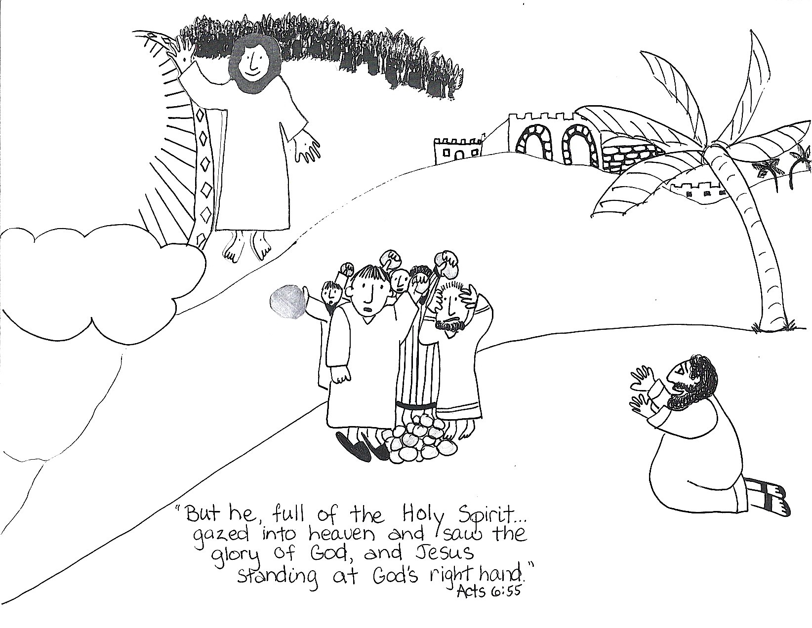 bible coloring pages stephen - photo#5