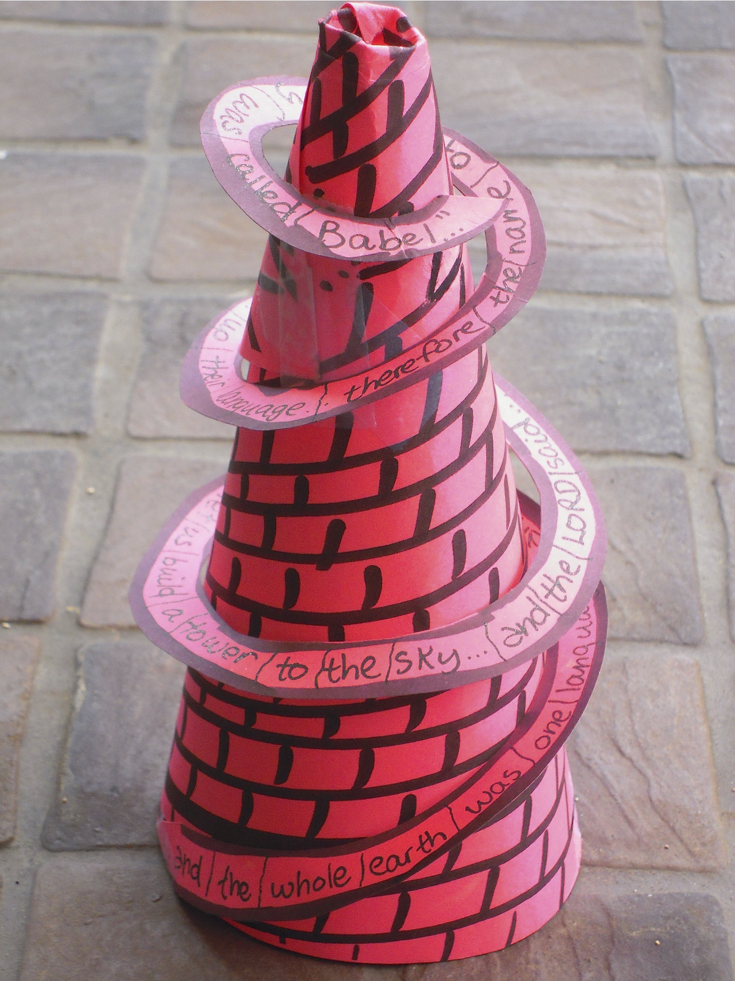 Tower Of Babel Craft Ideas http://auntiesbiblelessons.wordpress.com/2011/08/10/tower-of-babel/