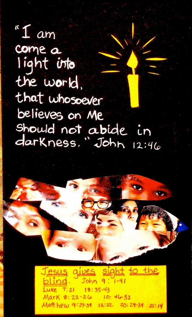 Jesus gives sight to the blind