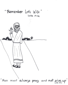 worksheet - Remember Lot's wife!