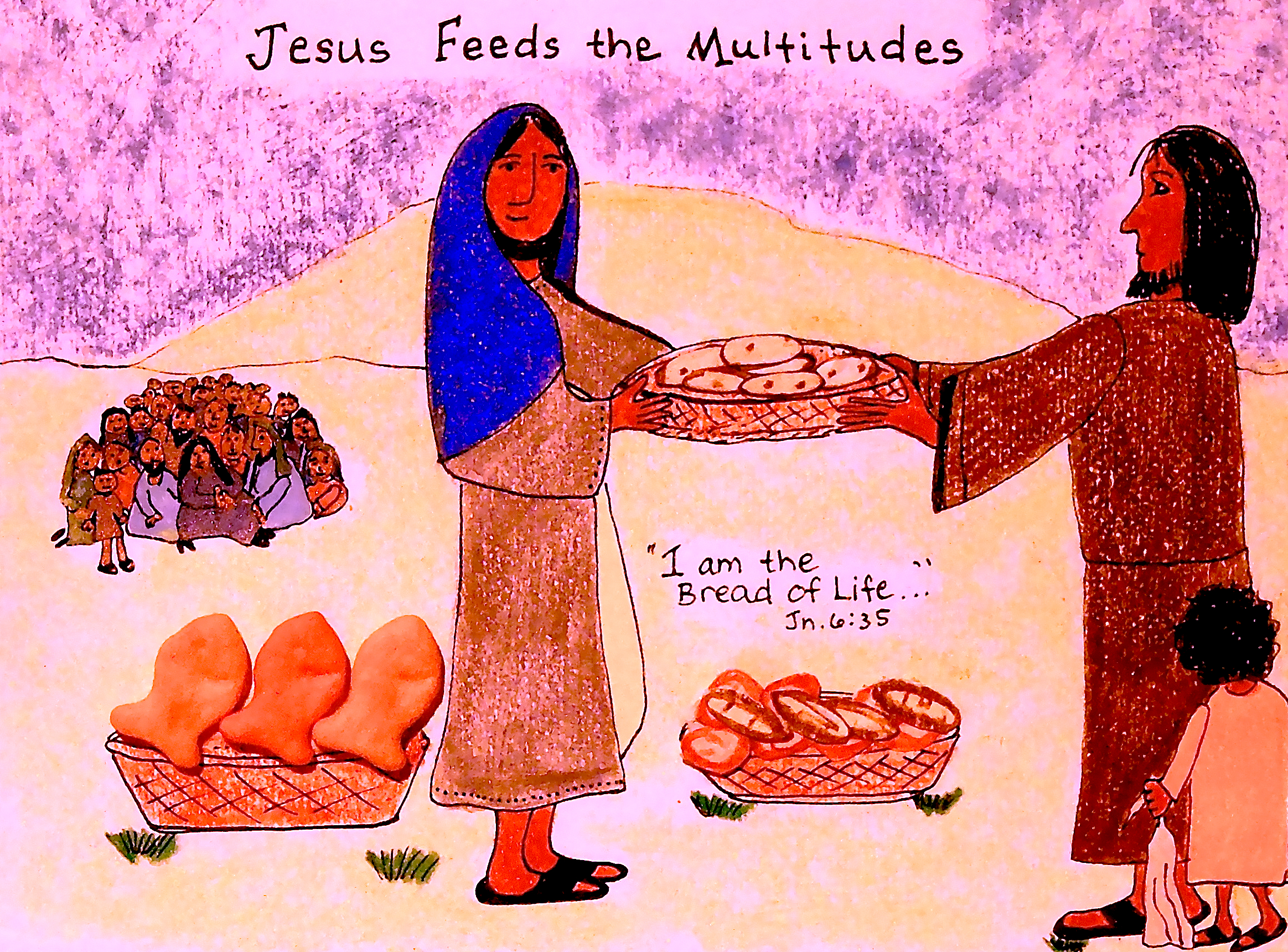 Jesus Feeds the Multitudes*** | aunties bible lessons