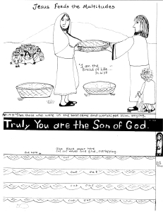 Craft Ideas Jesus Feeds 5000 on Jesus Feeds The Multitudes Worksheet Jpg W 231 H 300