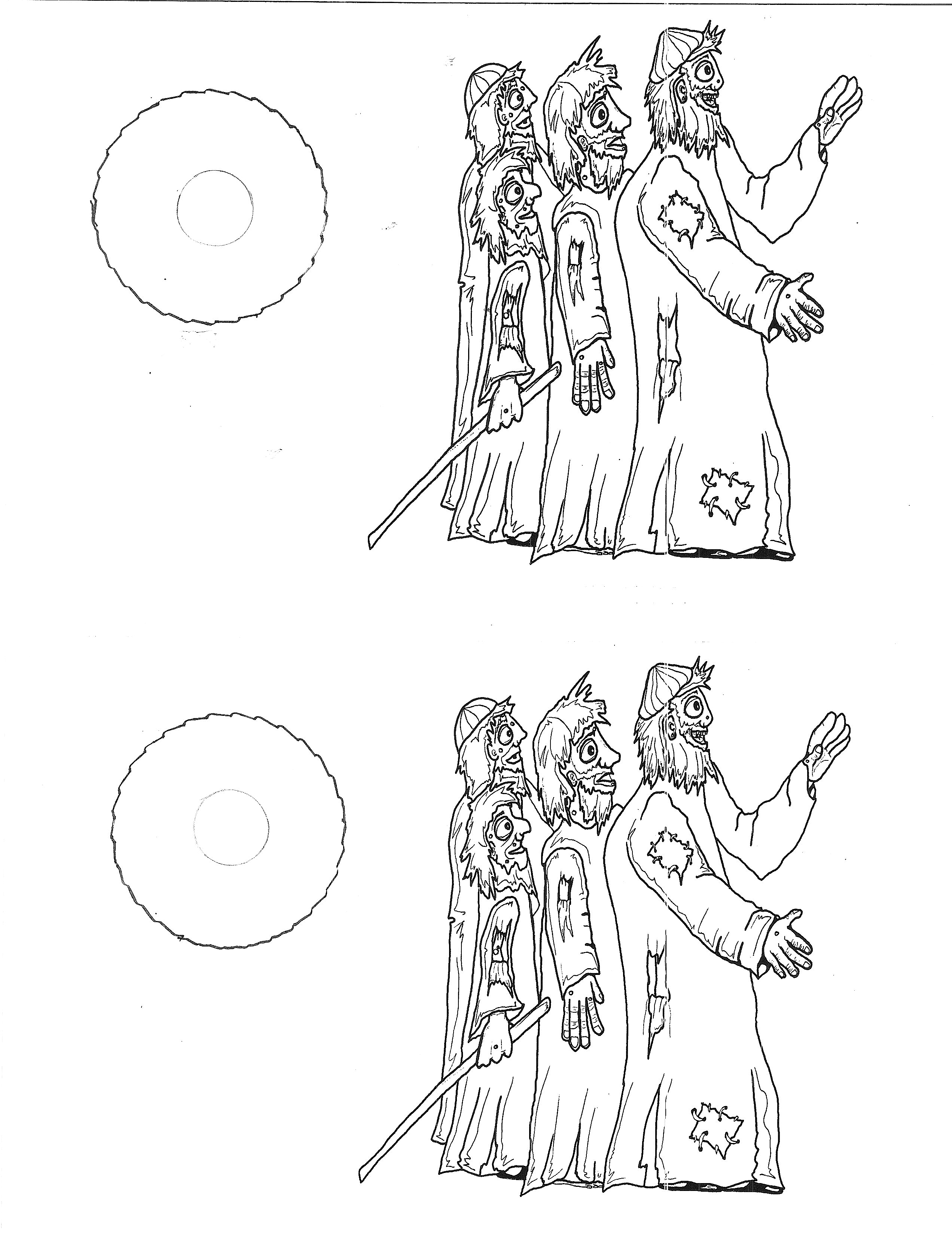 Naaman Leprosy Color Page - Worksheet & Coloring Pages