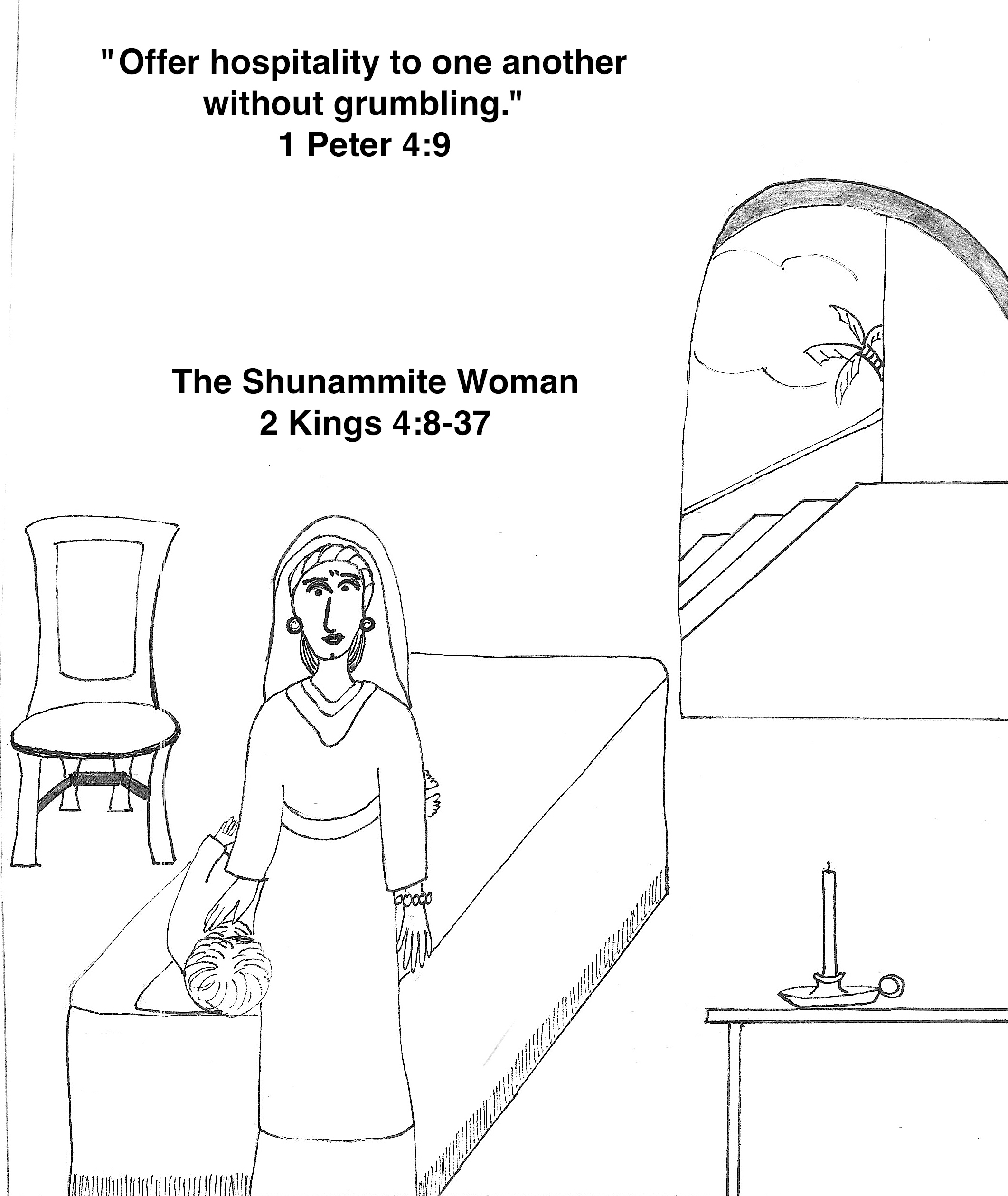 Elisha And The Shunammite Woman Craft