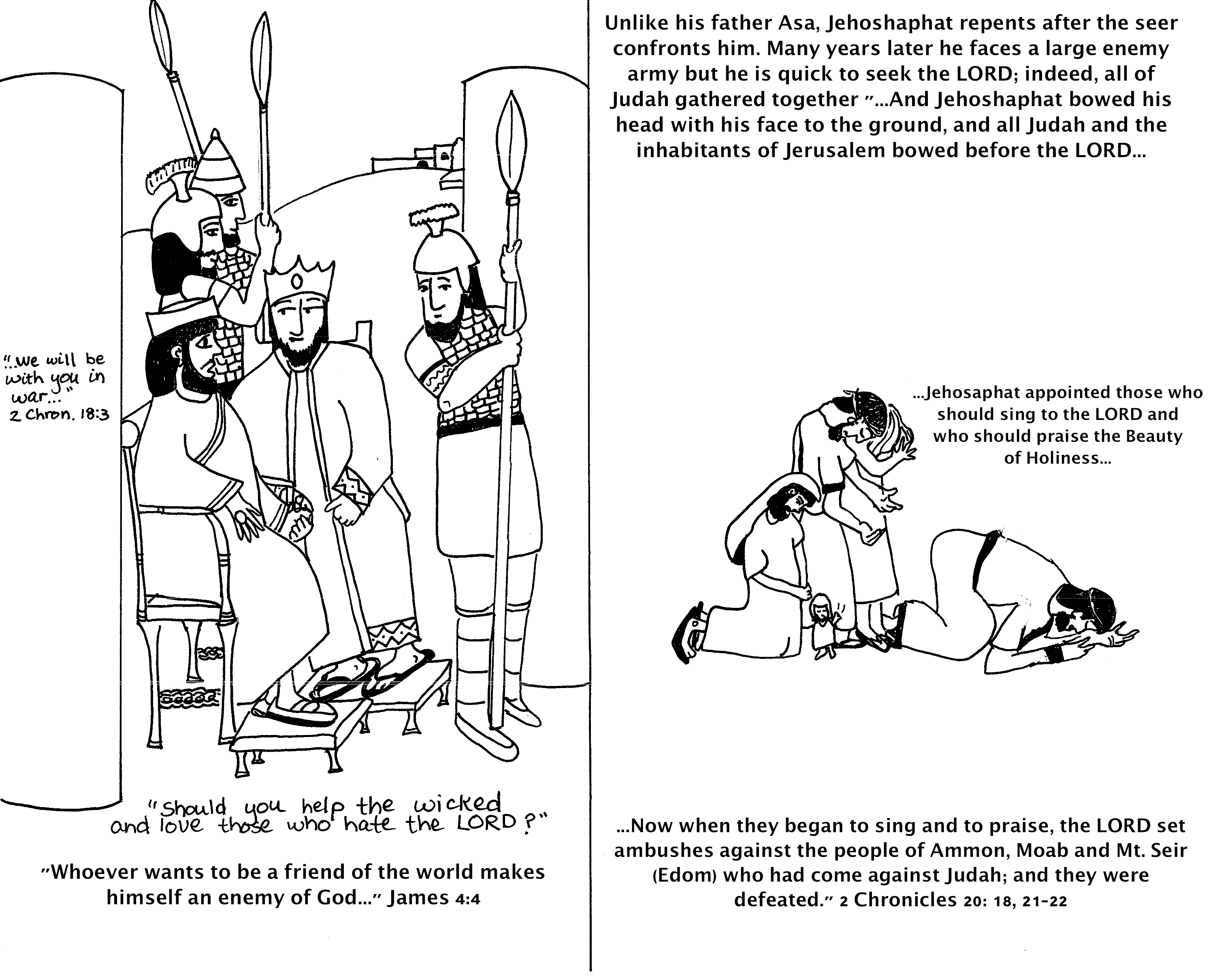Object Lessons On The Atonement Sugardoodle Party King Jehoshaphat Coloring Page
