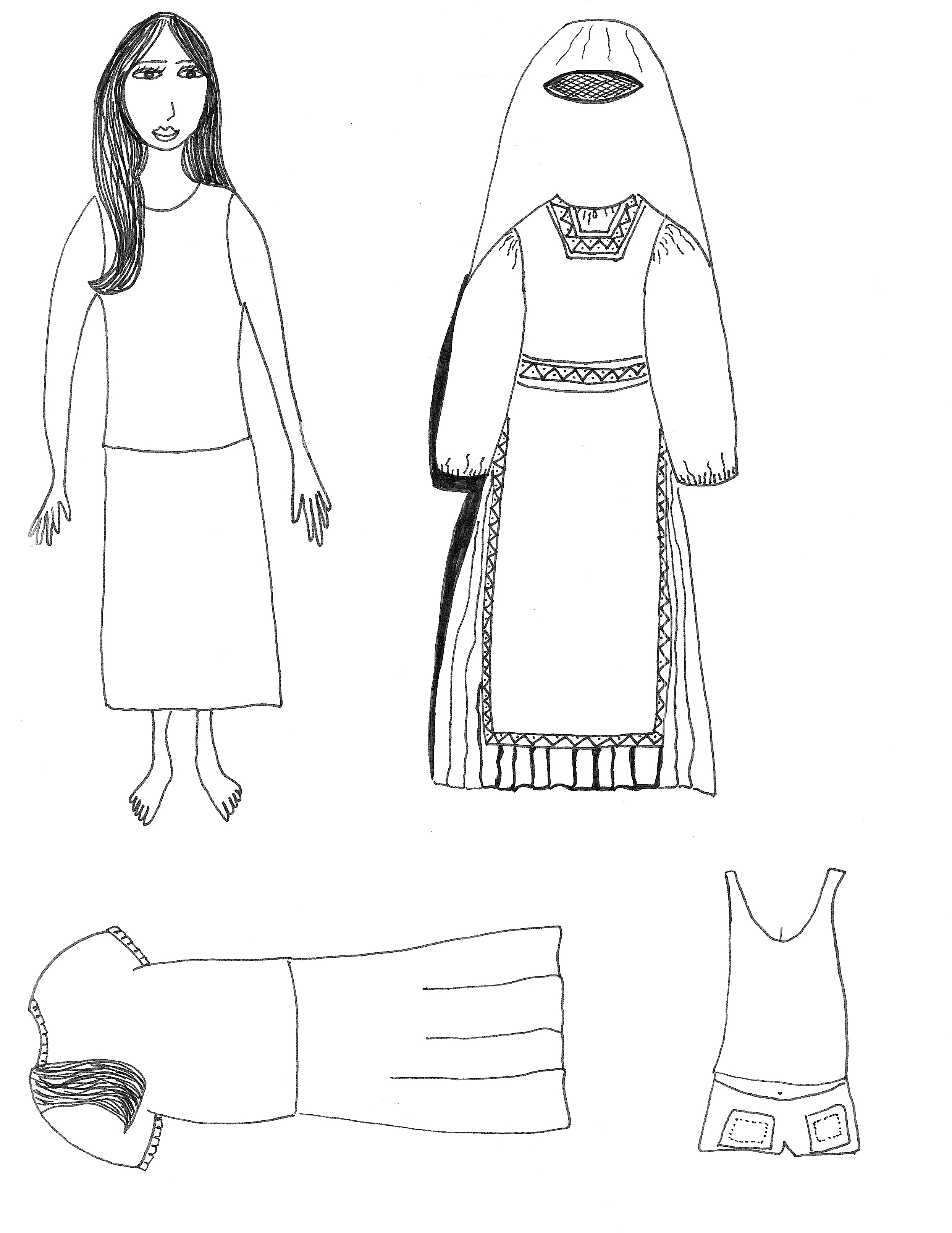Clip Art Isaac And Rebekah Coloring Pages paper doll craft aunties bible lessons leah modesty wkst