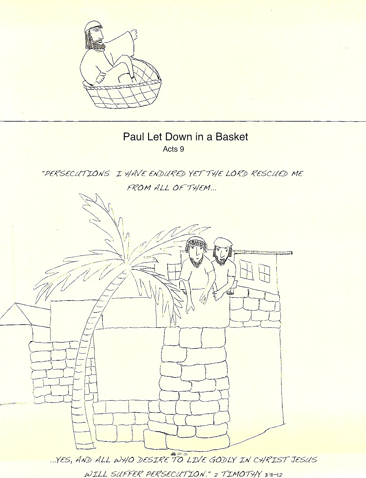 Free Coloring Pages Of Paul In A Basket