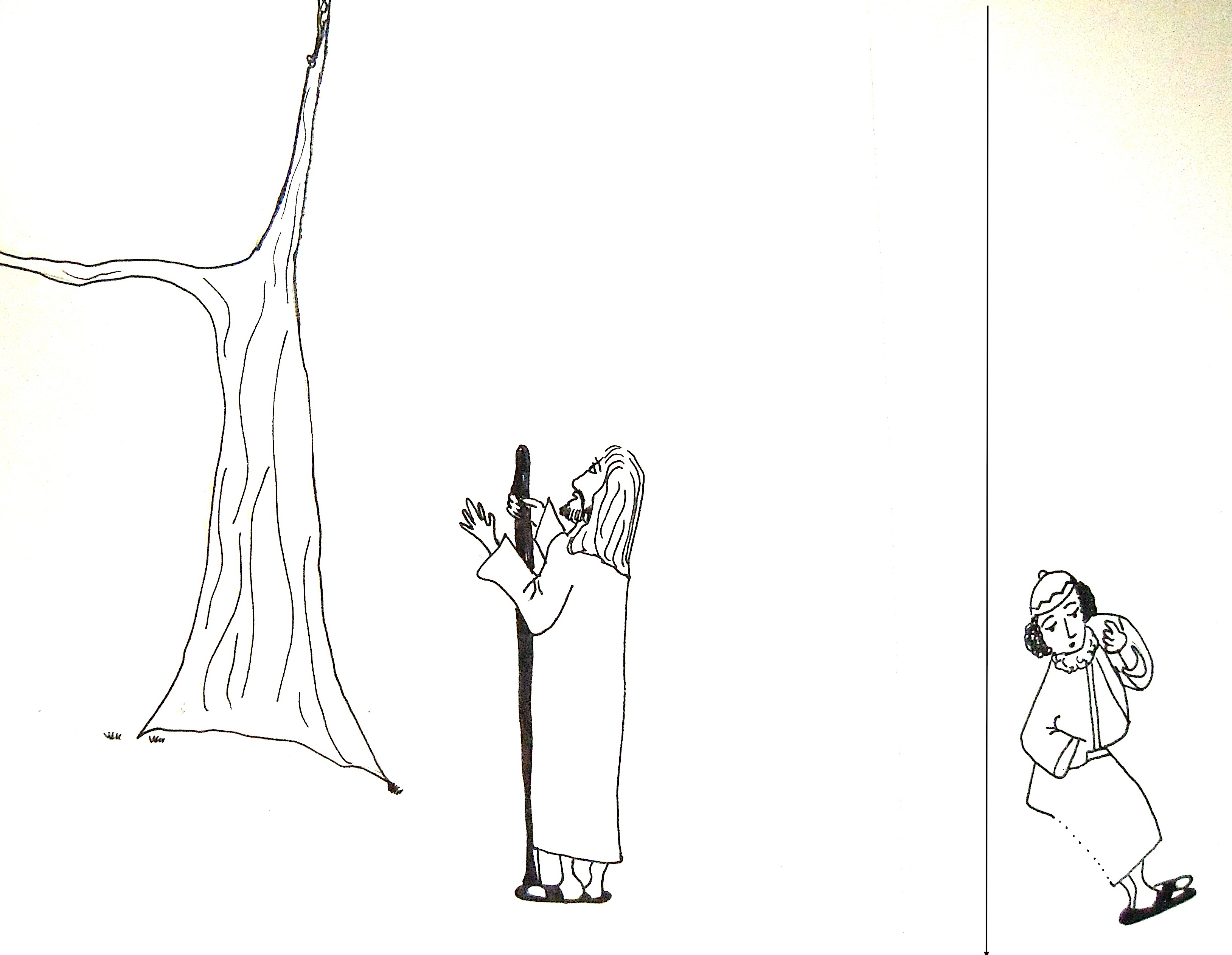 Coloring page zacchaeus - Zack No Text