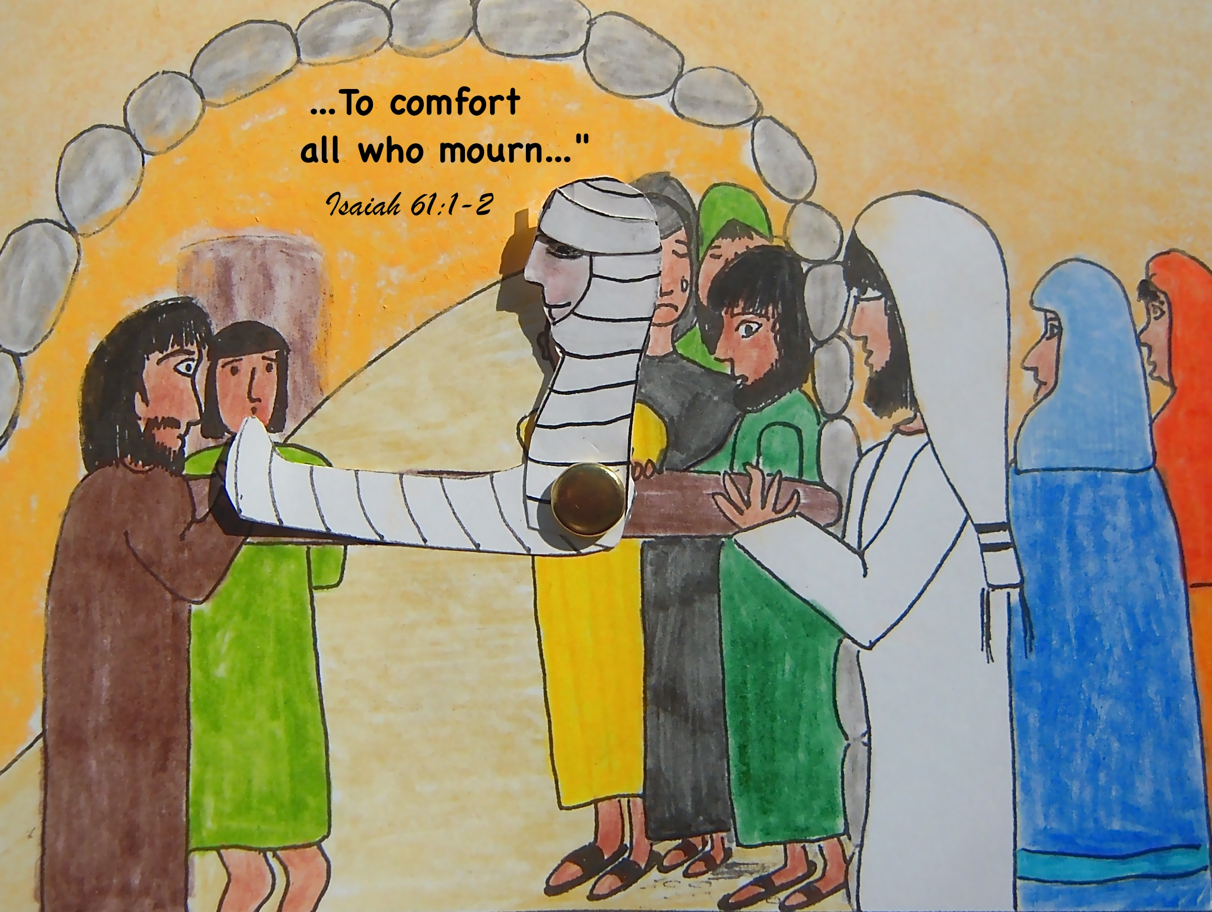 Free coloring pages jesus raises lazarus -  Widow Of Nain B